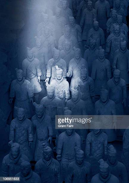 view of ancient warriors