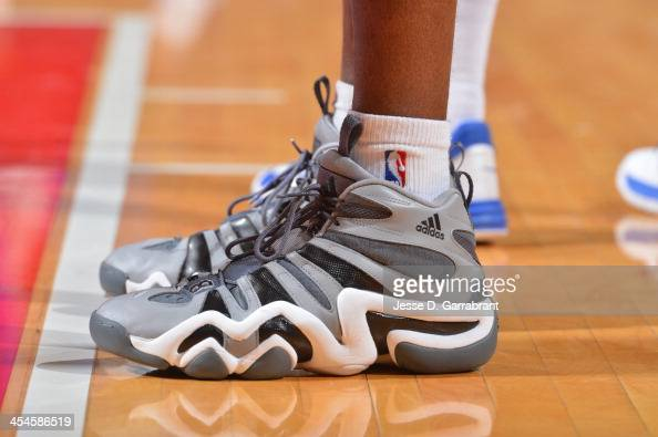 A view of Antawn Jamison of the Los Angeles Clippers sneakers in the game against the Philadelphia 76ers at the Wells Fargo Center on December 9 2013...