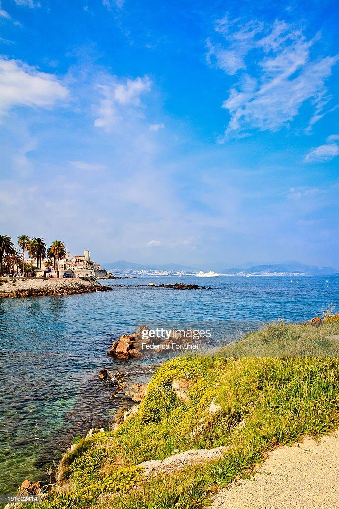 View of Antibes beach : Stock Photo