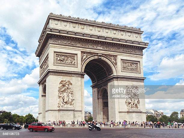 View of Arc de Triomphe during the day, Paris