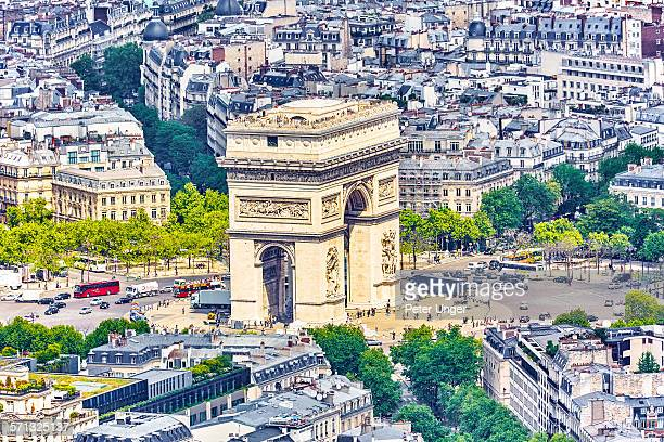 View Of Arc De Triomphe, Paris