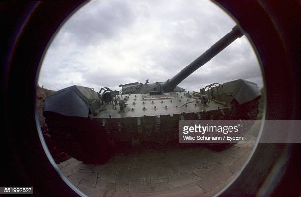 View Of Army Tank Against Clouds