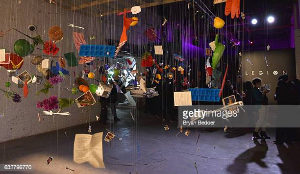 A view of art installations at the FX's Legion WhereHouse at Villian on January 26 2017 in Brooklyn New York