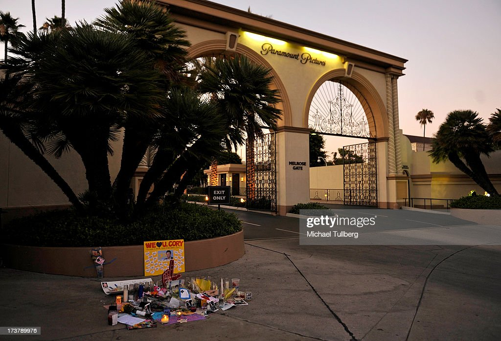 A view of atmosphere as Cory Monteith is remembered in front of Paramount Studios on July 17 2013 in Los Angeles California
