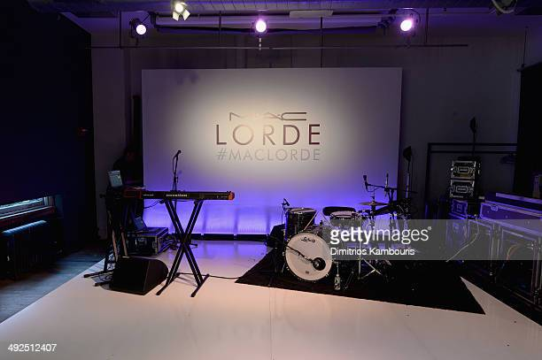 A view of atmosphere as MAC Cosmetics launch their collaboration with Lorde at the MAC Pro Showroom on May 20 2014 in New York City