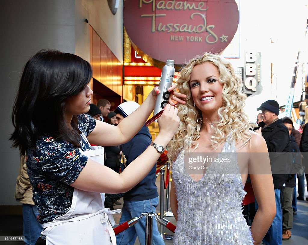 A view of atmosphere as Madame Tussauds New York unveils a new wax figure of <a gi-track='captionPersonalityLinkClicked' href=/galleries/search?phrase=Britney+Spears&family=editorial&specificpeople=156415 ng-click='$event.stopPropagation()'>Britney Spears</a> on March 26, 2013 in New York City.