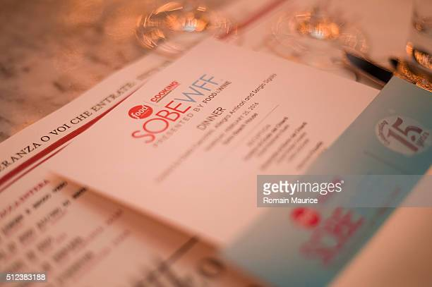 A view of atmosphere at a Dinner Hosted By Dario Cecchini And Allegra Antinori during 2016 Food Network Cooking Channel South Beach Wine Food...