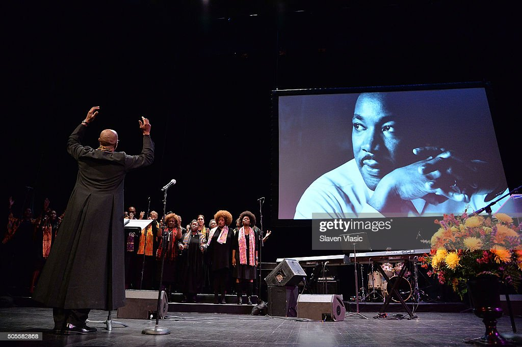 A view of atmosphere at BAM's 30th Annual Tribute To Dr Martin Luther King Jr at BAM Howard Gilman Opera House on January 18 2016 in New York City