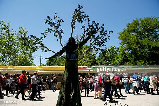 A view of atmosphere at 'Books Fair 2013' at the Retiro Park on June 2 2013 in Madrid Spain