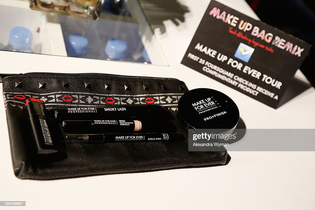 A view of atmosphere at Christina Ricci's debut of her MAKE UP FOR EVER Remix Make Up Bag at The MAKE UP FOR EVER Make Up Bag Remix Tour stop at The Grove on February 1, 2013 in Los Angeles, California.