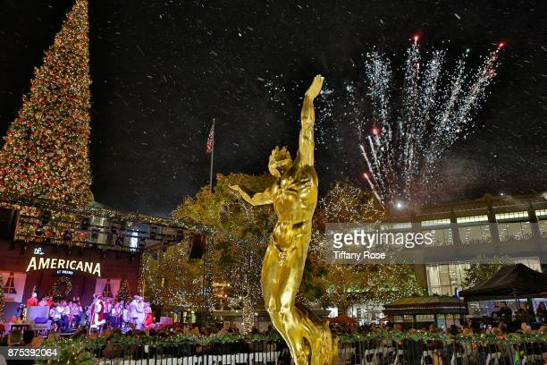 A view of atmosphere at Derek Hough Hosts The Americana at Brand Tree Lighting Presented By BMW on November 16 in Glendale California on November 16...