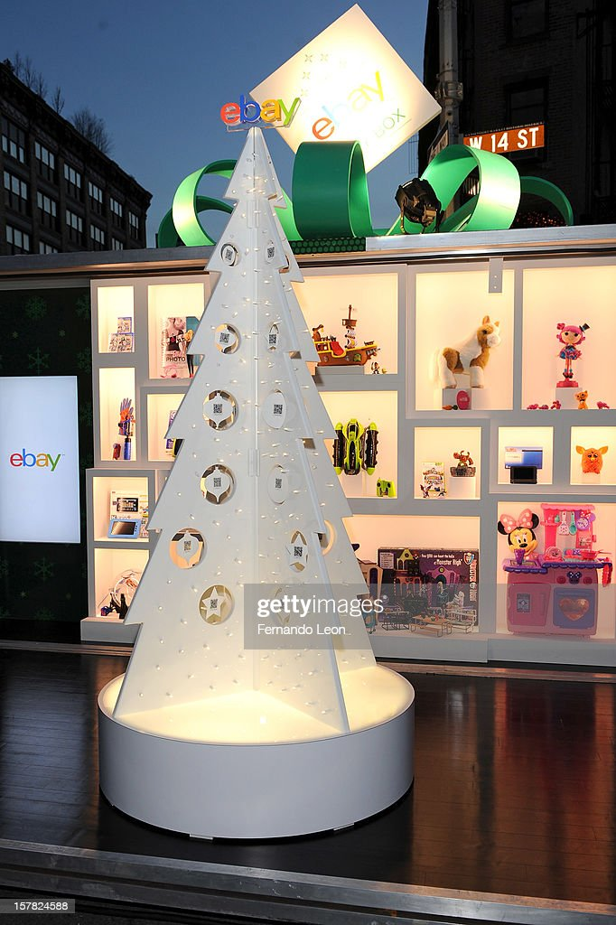 A view of atmosphere at eBay's new way to give and get the season's hottest toys with mobile at The eBay Toy Box in New York City on December 6, 2012.