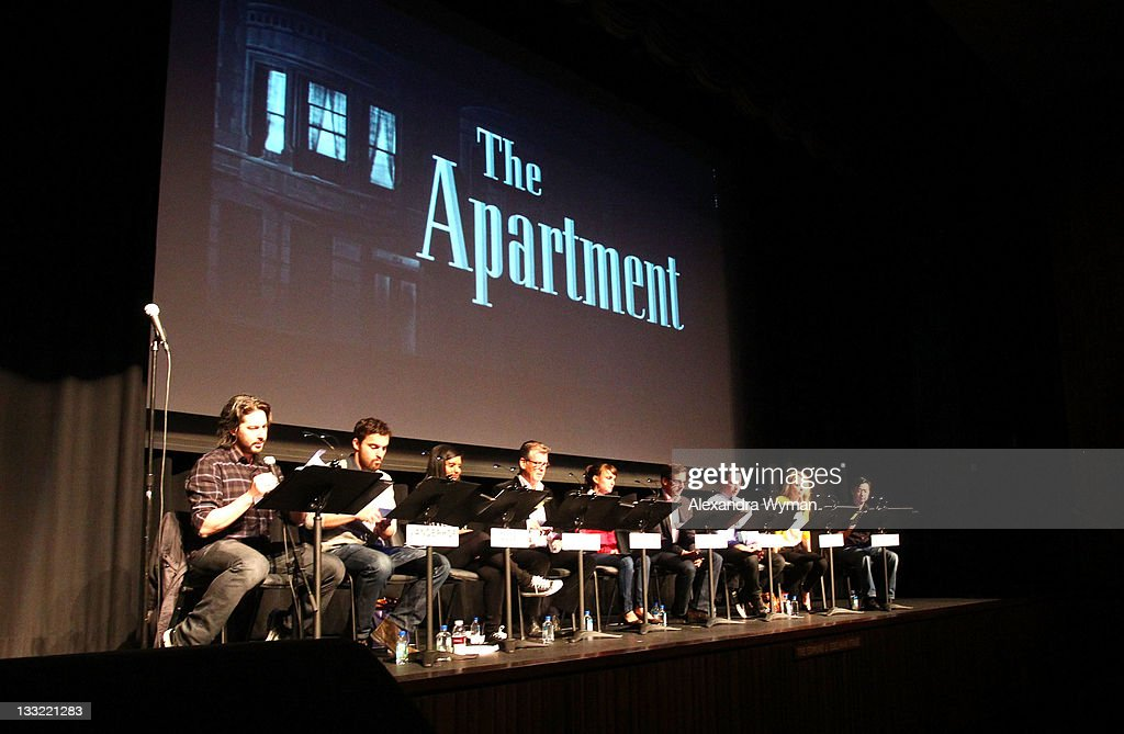 Live read of the apartment getty images for The apartment cast