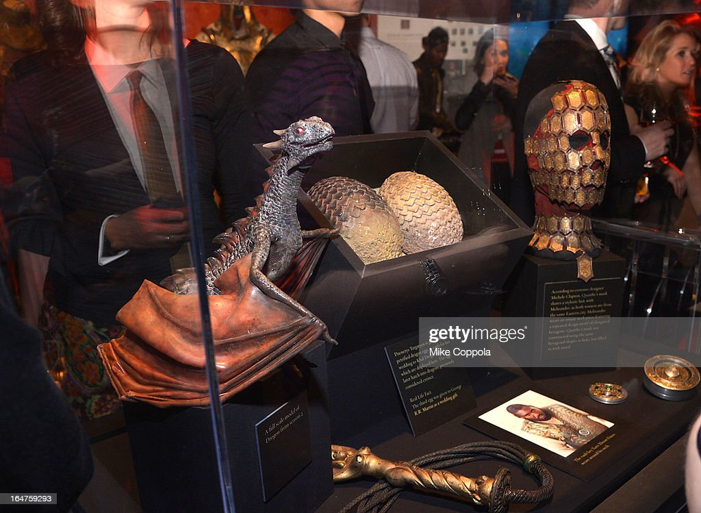 A view of atmosphere at 'Game Of Thrones' The Exhibition New York Opening at 3 West 57th Avenue on March 27, 2013 in New York City.
