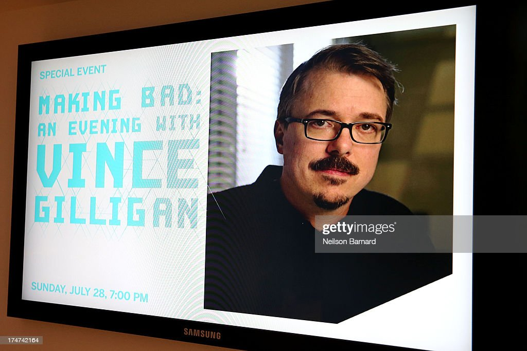 An Evening with Vince Gilligan at Museum of Moving Image on July 28, 2013 in New York City.
