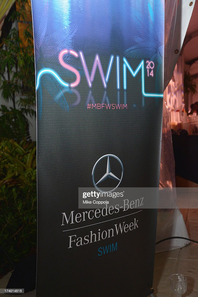 A view of atmosphere at Mercedes-Benz Fashion Week Swim 2014 Official Coverage - Day 1 at Raleigh Hotel on July 18, 2013 in Miami Beach, Florida.