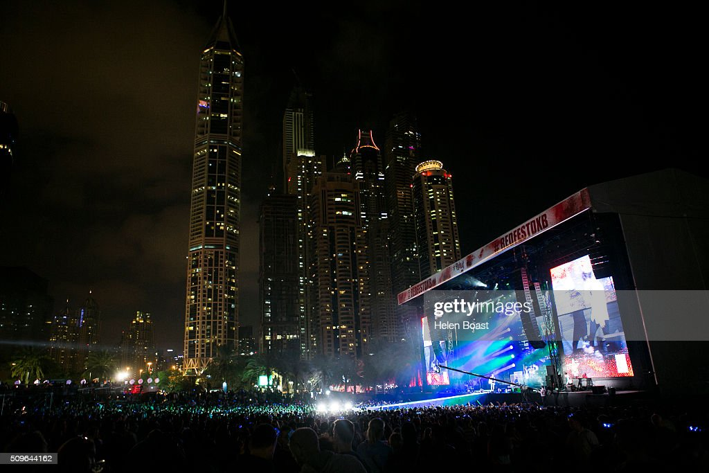 A view of atmosphere at Redfest DXB at Media City Amphitheatre on February 11, 2016 in Dubai, United Arab Emirates.