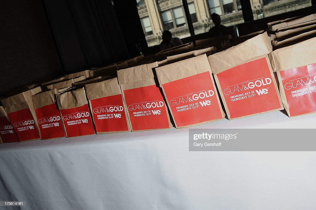 A view of atmosphere at 'Sanya's Glam And Gold' Series Premiere at Gansevoort Hotel on July 15, 2013 in New York City.