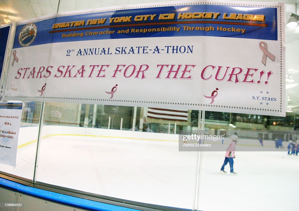 A view of atmosphere at the 2011 Breast Cancer Skate-a-Thon held at the Abe Stark Arena on October 22, 2011 in New York City.