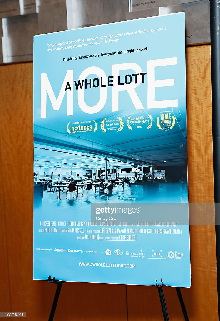 A view of atmosphere at the 'A Whole Lott More' screening at JCC in Manhattan on March 10, 2014 in New York City.