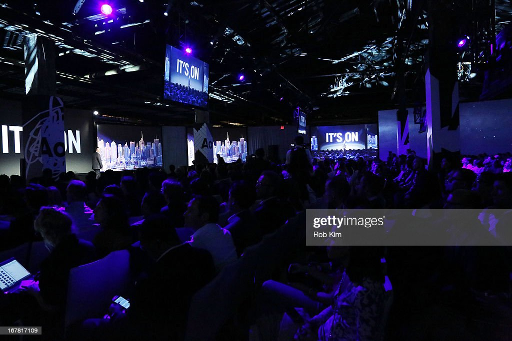 A view of atmosphere at the AOL 2013 Digital Content NewFront on April 30, 2013 in New York City.