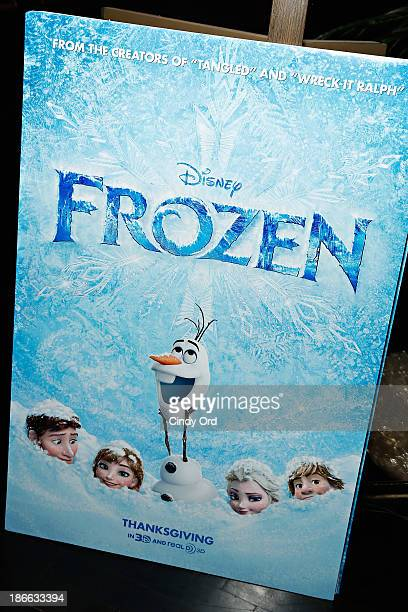 A view of atmosphere at The Cinema Society's special screening of Walt Disney Animation Studios' 'Frozen' at the Tribeca Grand Hotel on November 2...