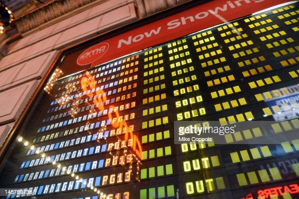 A view of atmosphere at 'The Dark Knight Rises' Midnight Premiere at Various Locations on July 19 2012 in New York City