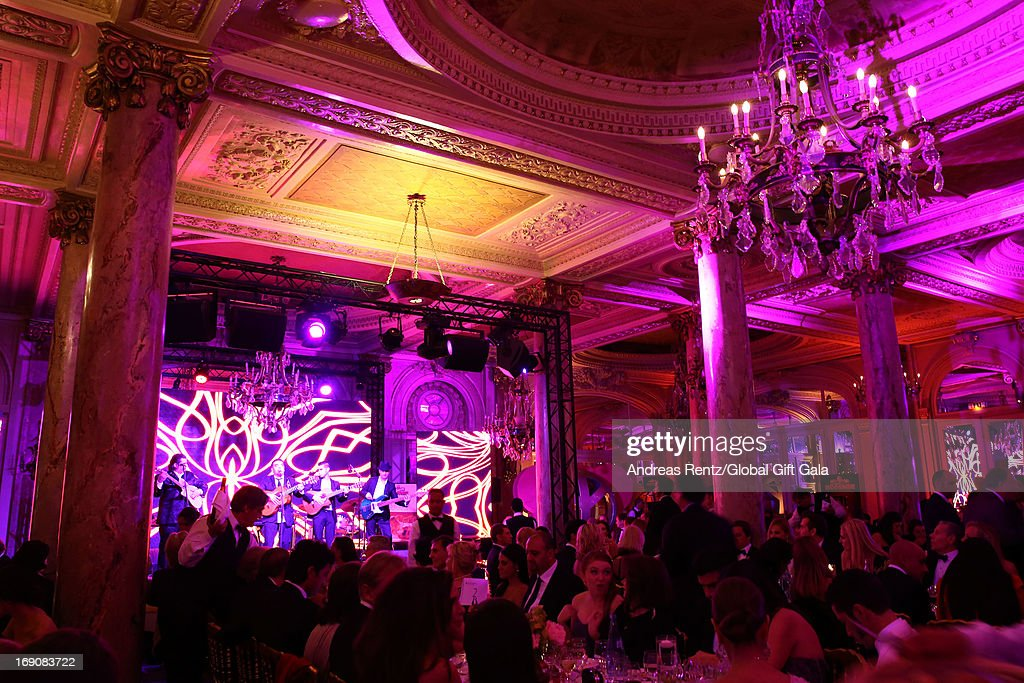 A view of atmosphere at the 'Global Gift Gala' 2013 dinner and auction presented by Eva Longoria at Carlton Hotel on May 19, 2013 in Cannes, France.