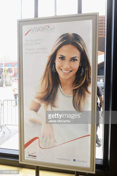 A view of atmosphere at the opening of Viva Movil by Jennifer Lopez flagship store on July 26 2013 in New York City