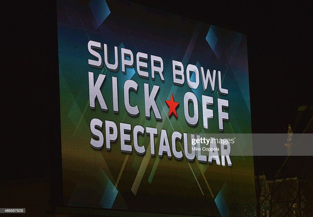 A view of atmosphere at the Super Bowl Kickoff Spectacular at Liberty State Park on January 27, 2014 in Jersey City, New Jersey.