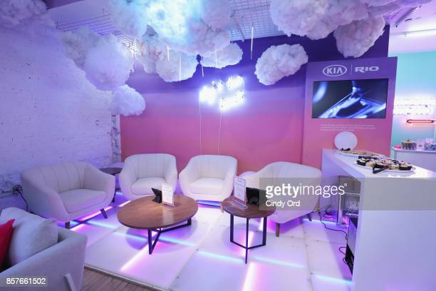 A view of atmosphere before Brit Co Kicks Off Experiential PopUp #CreateGood with Allison Williams and Daphne Oz at Brit Co on October 4 2017 in New...