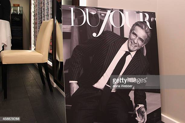 A view of atmosphere during DuJour magazine's premier opening event at Tincati Milano Concept Store on November 11 2014 in New York City