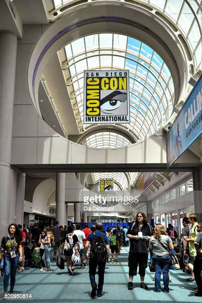 A view of atmosphere during the 2017 ComicCon International at the San Diego Convention Center on July 22 2017 in San Diego California