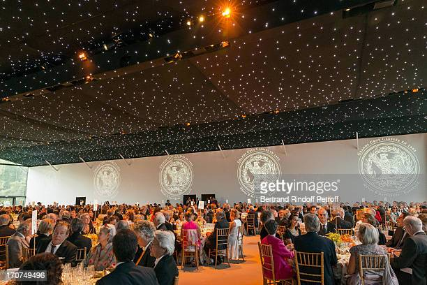 A view of atmosphere during the dinner of Conseil des Grand Crus Classes of 1855 hosted by Chateau Mouton Rothschild on June 16 2013 in Pauillac near...