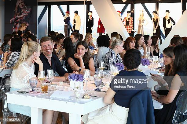 A view of atmosphere during the RESERVED collection preview seated dinner at upside east on July 1 2015 in Munich Germany