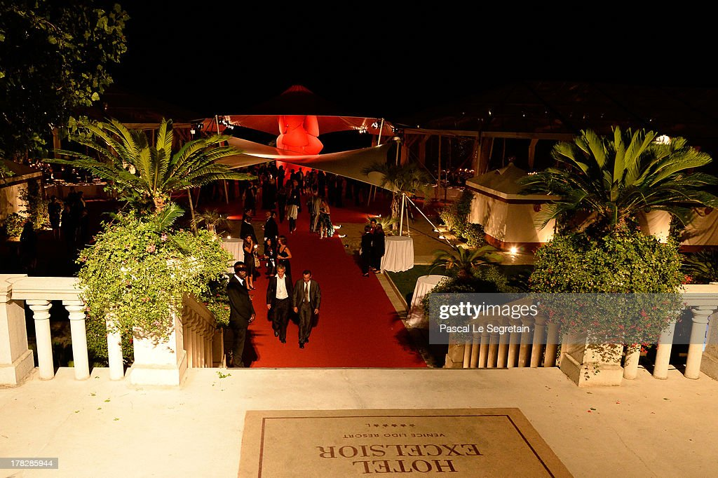 A view of atmosphere is seen prior the Opening Dinner Arrivals during the 70th Venice International Film Festival at the Hotel Excelsior on August 28, 2013 in Venice, Italy.