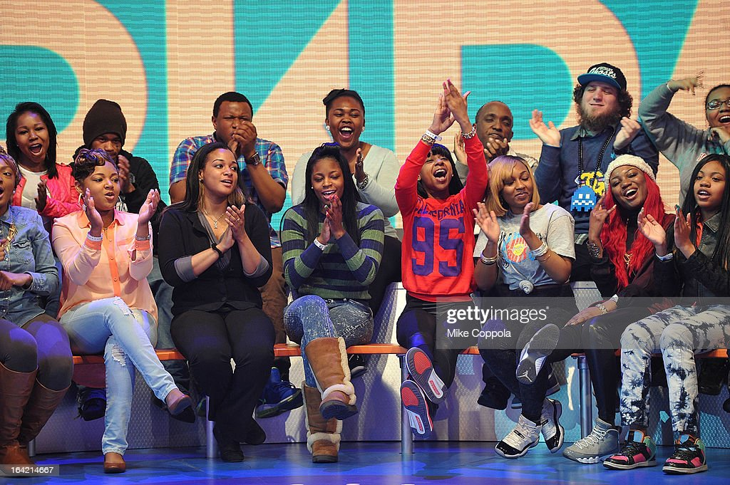 A view of atmosphere on BET's 106th & Park at 106 & Park Studio on March 20, 2013 in New York City.