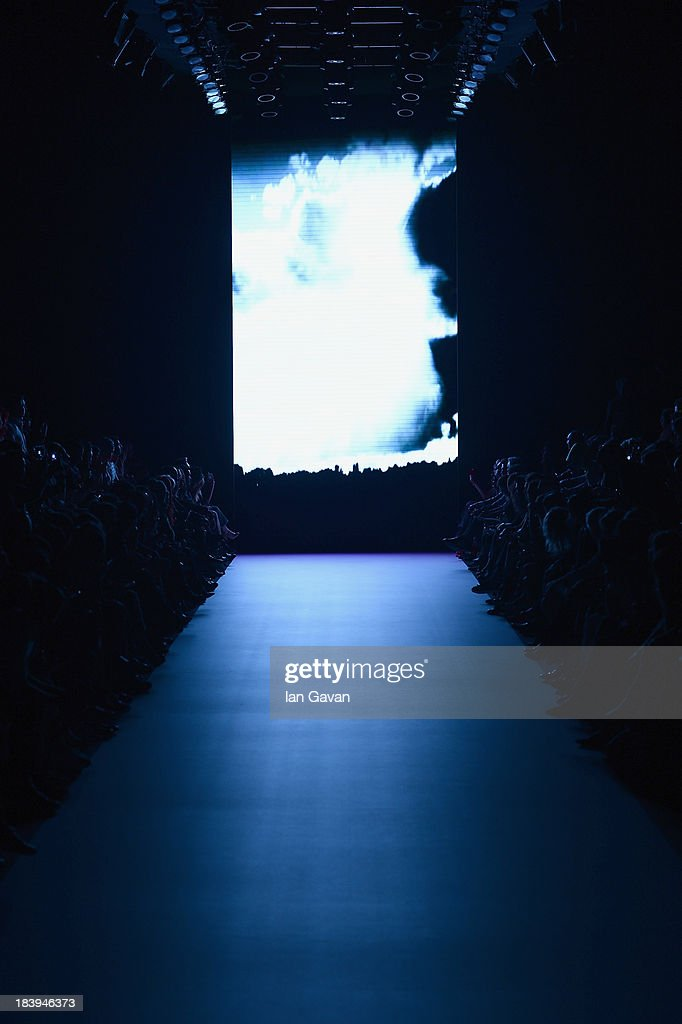 A view of atmosphere prior the Nej show during Mercedes-Benz Fashion Week Istanbul s/s 2014 Presented By American Express on October 10, 2013 in Istanbul, Turkey.