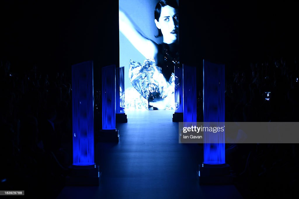 A view of atmosphere prior the Raisa-Vanessa Sason show during Mercedes-Benz Fashion Week Istanbul s/s 2014 Presented By American Express on October 10, 2013 in Istanbul, Turkey.