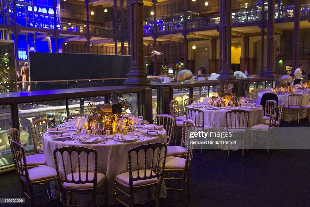 A view of atmosphere prior to the dinner following the Berluti Men Autumn / Winter 2013 presentation at the Great Gallery of Evolution in the National Museum of Natural History, as part of Paris Fashion Week on January 18, 2013 in Paris, France.