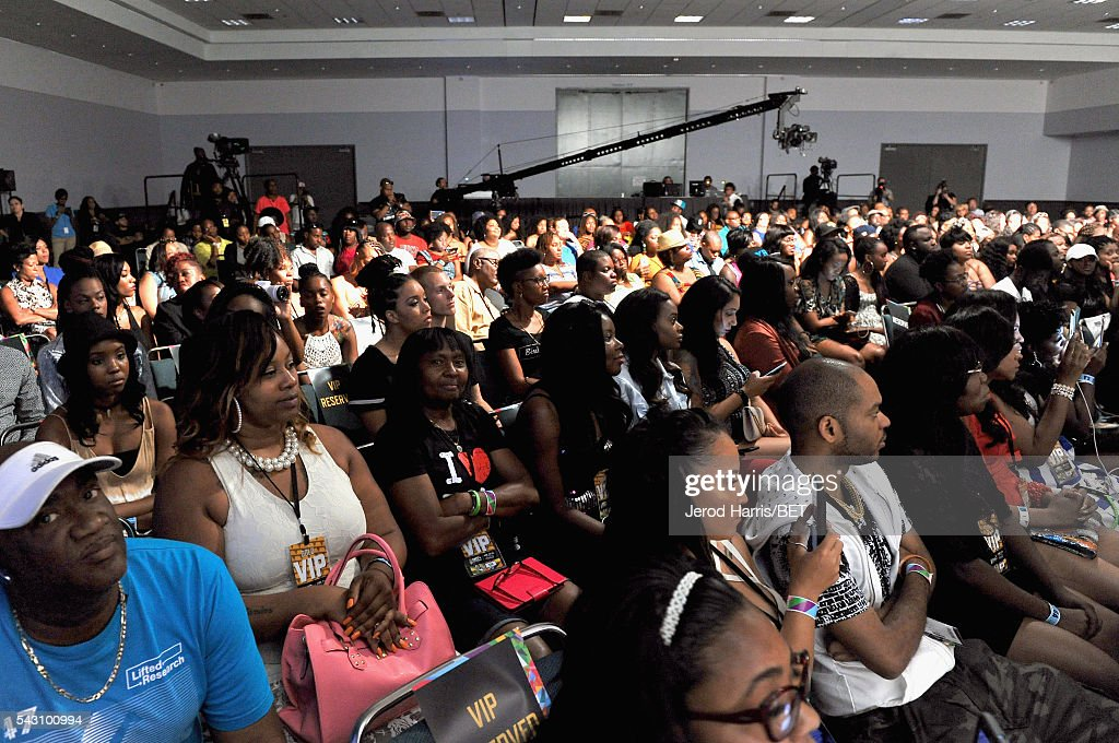 A view of attendees at Women, Wealth, and Relationships presented by HIP HOP SISTERS during the 2016 BET Experience on June 25, 2016 in Los Angeles, California.