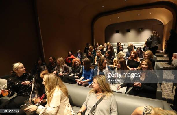 A view of audience at the Female Bosses celebration and BOSS BITCH book launch and interactive panel event at The Core Club on March 22 2017 in New...