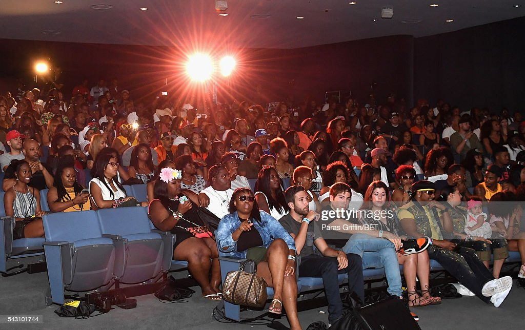 A view of audience members at MTV Wild N Out live show during the 2016 BET Experience on June 25, 2016 in Los Angeles, California.