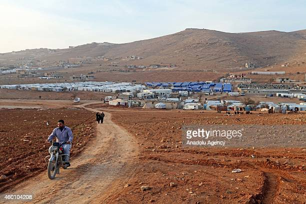 A view of Babel refugee camp in eastern Lebanese city of Arsal where Syrian refugees fled their homes due to the civil war in their country try to...