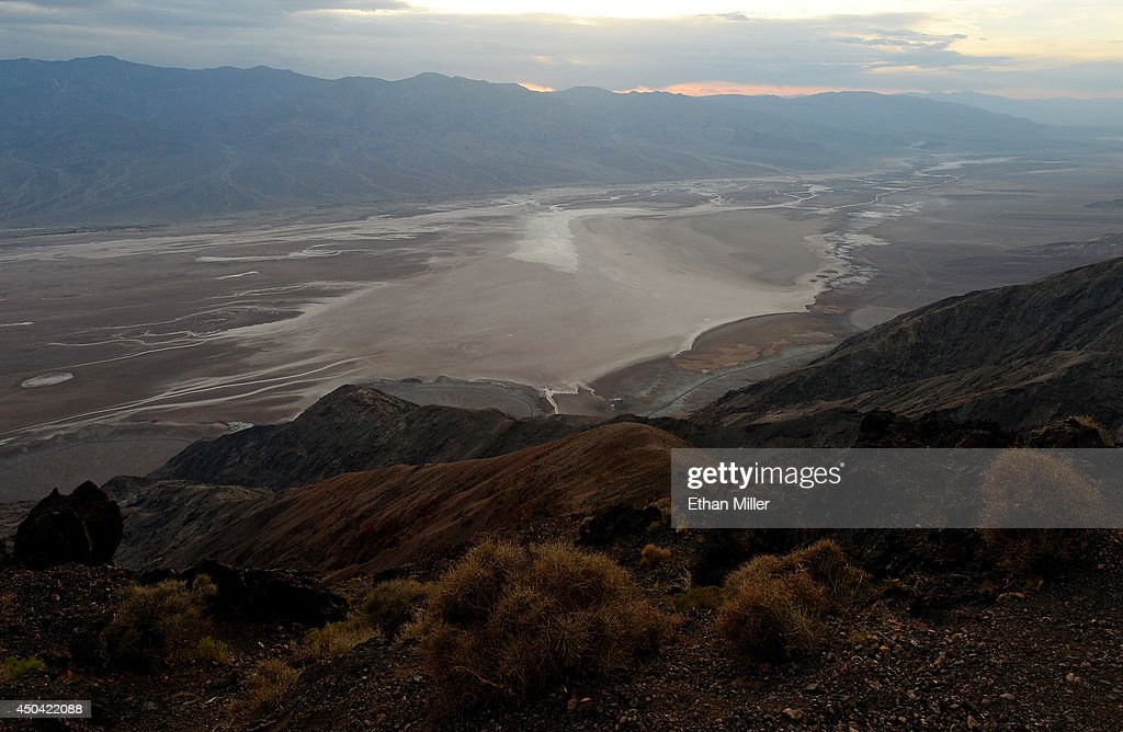 A view of Badwater Basin from Dante's View on May 23 2014 in Death Valley California