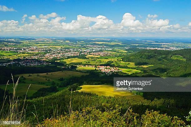 View of Balingen and Baar from Boellat