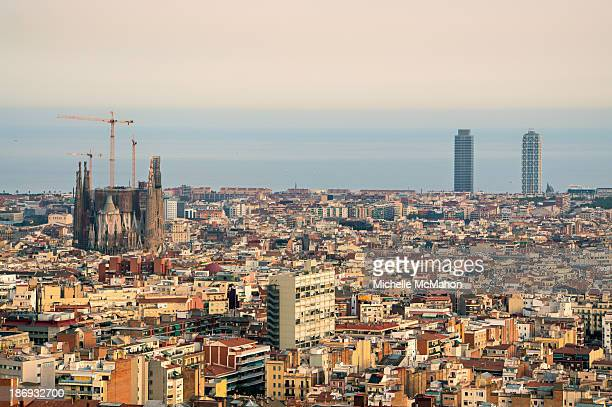 View of Barcelona City.