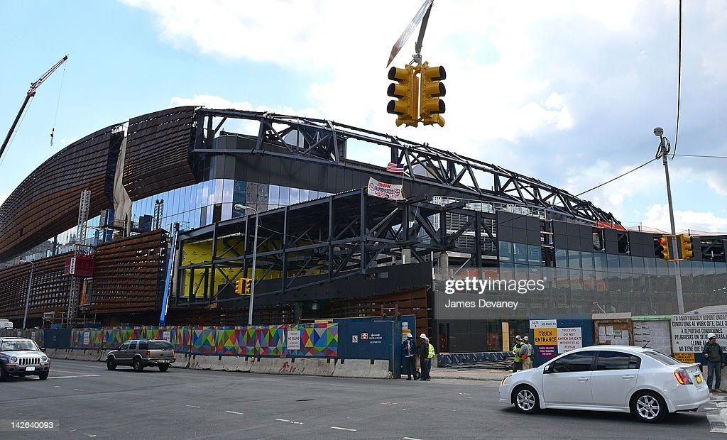 A view of Barclays Center of Brooklyn under construction on April 10, 2012 in New York City.