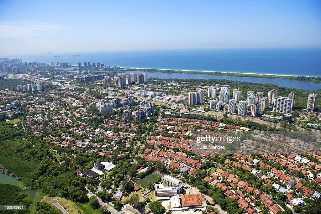 View of Barra da Tijuca on April 04, 2013 in Rio de Janeiro, Brazil. In the following years the city will host very important events, such as the Confederations Cup and the World Youth Day, FIFA World Cup in 2014, America Cup in 2015 and the Summer Olympics in 2016.