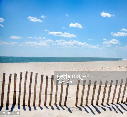 View of beach.